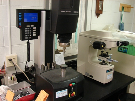 sSc Specialty Screw Corporation - Rockwell Hardness Tester